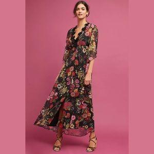 Farm Rio Anthropologie Laina Maxi Dress Kimono